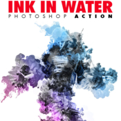 Ink in water v1 photoshop action 19121415 icon