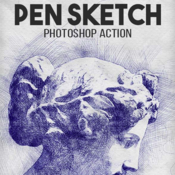 Pen sketch photoshop action 18522026 icon