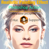 Realistic painting effect photoshop action 19154483 icon