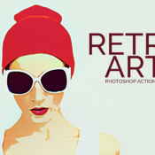 Retro art photoshop action 365811 icon