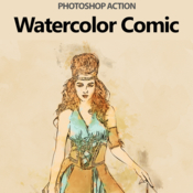 Watercolor comic photoshop action 18922112 icon