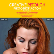 Creative retouch acciones photoshop icon