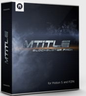 Mtitle blockbuster pack cinematic titles for fcpx and motion5 icon