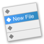 New file menu icon