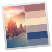 Color palette from image create a color palette from an image icon