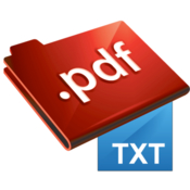 Pdf to txt converter icon