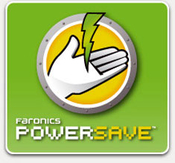 Faronics power save manage computer resources during downtime save energy icon