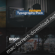 Animated typography titles icon