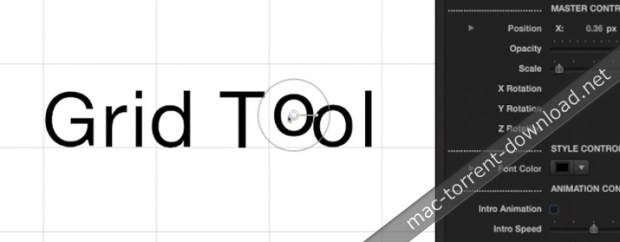 Align Text with the Grid Tool