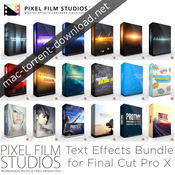 Pixel film studios text effects bundle for fcpx icon