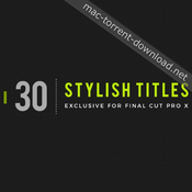 Lenofx 30 stylish titles for fcpx icon