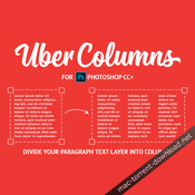 Ubercolumns plugin for adobe photoshop cc icon