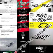 Mix fonts bundle vol 3 icon