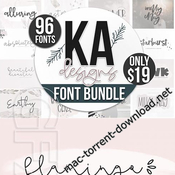 Best of 2018 big font bundle icon