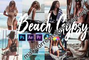 Neo beach gypsy theme color grading photoshop actions icon