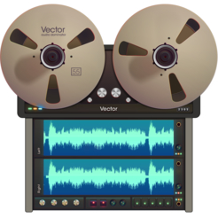 Vector 3 record and edit audio icon