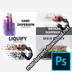 4 in 1 Dispersion Photoshop Actions 4228603