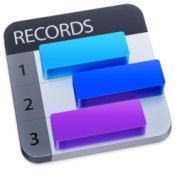 Records Innovative personal database icon