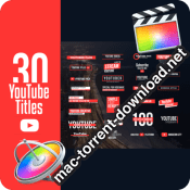 YouTube Motion Titles Final Cut Pro X 24327818 icon