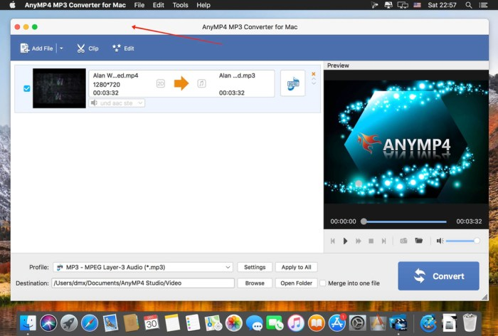 AnyMP4 MP3 Converter for Mac 8212 Screenshot 01 57si12n