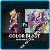 Color Blast Photoshop Action 4406654 icon