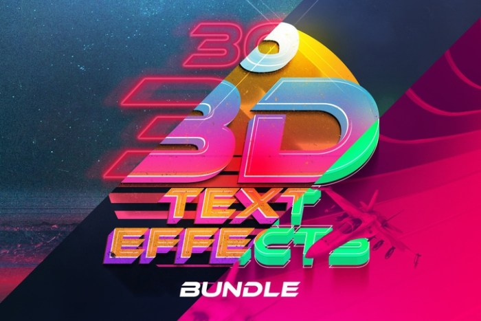 3D Text Effects Bundle Vol4 Screenshot 01 130hzhn