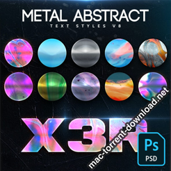 Metal Abstract Text Styles V8 26422140 icon