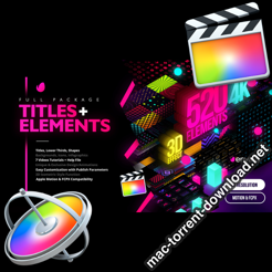 Modern Pack of Titles and Elements for FCPX 4K 28907886 icon