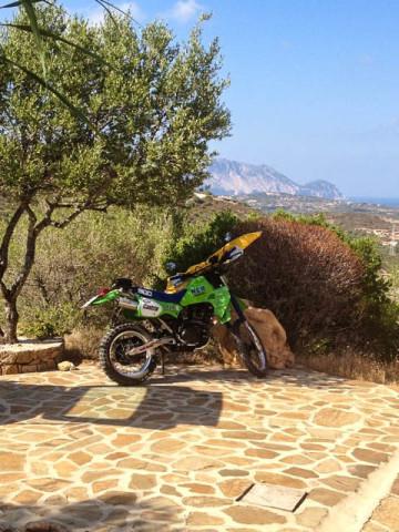 KLR 600 auf Sardinien