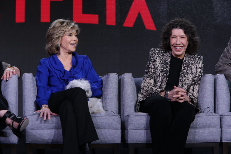 Jane Fonda and Lily Tomlin promote Netflix's Grace and Frankie