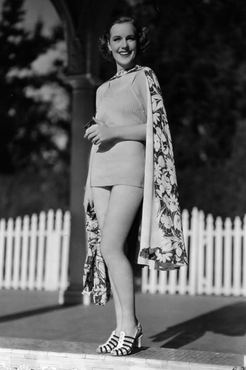 Summertime shoes in 1936 were way chicer than the flip-flops worn poolside today.