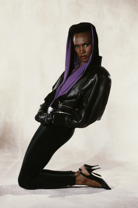 At least Grace Jones still understands the power of a sleek black pump.