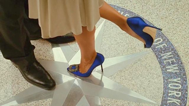 And suddenly every bride wanted royal satin Manolo Blahnik Hangisi pumps as her 'something blue'.