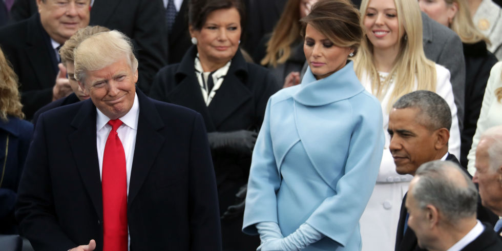Image result for trump inauguration melania frown