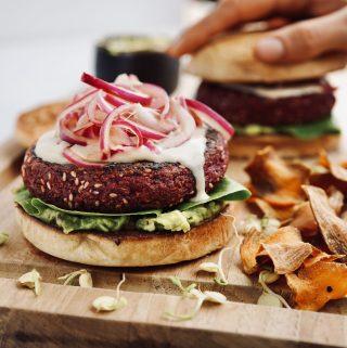 Hamburguesa vegana de lentejas germinadas