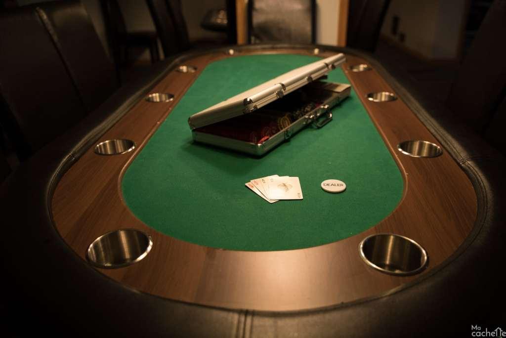 Domaine forêt d'eau - Chalet 16 personnes à louer au lac Simon en Outaouais - Table de poker
