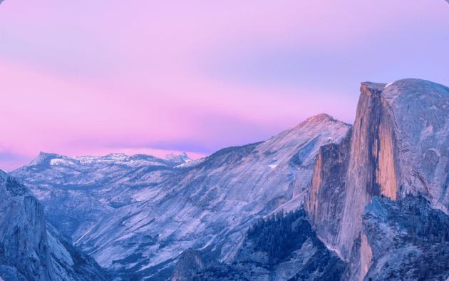 OS X Yosemite ecran vierge