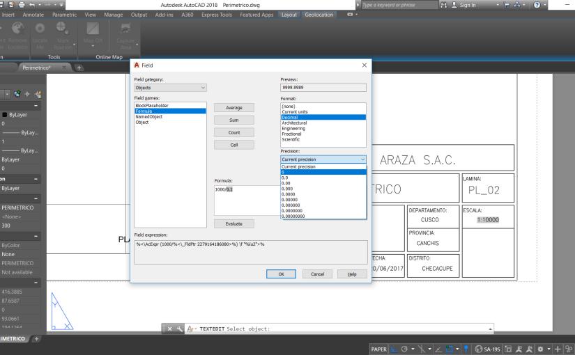 Actualiza la escala de forma automática con los campos (Field) en AutoCAD – (Método 2)