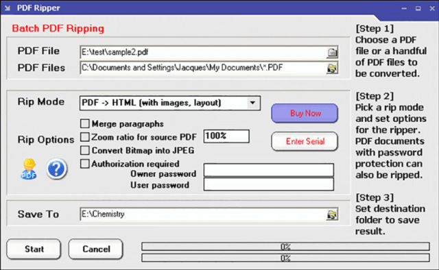 PDF Ripper A tool that helps you extract images, texts, charts and vector drawings from PDF
