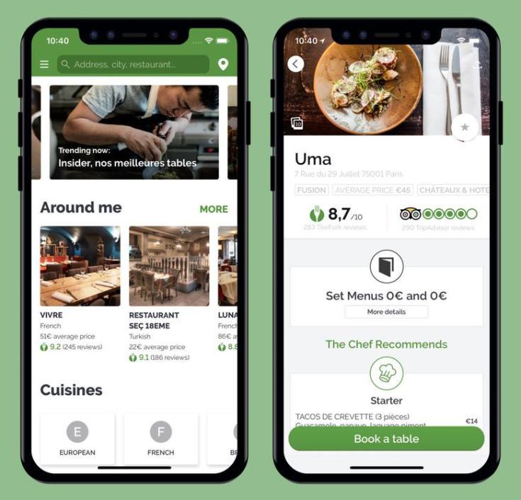 thefork apps restaurant