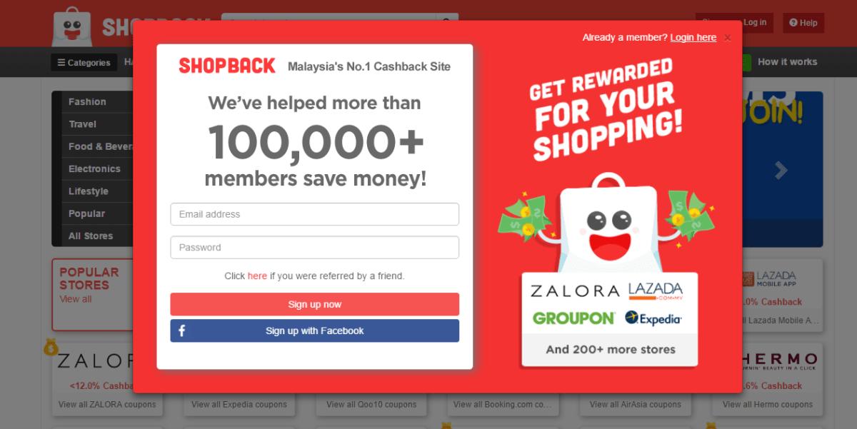 Apps untuk extra income dengan shopback