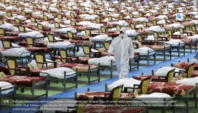 PHOTO: Pusat Konvensyen Iran Mengubah Jadi Hospital COVID-19