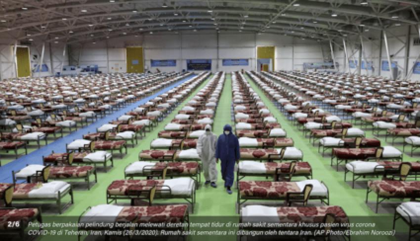 PHOTO: Pusat Konvensyen Iran Berubah Menjadi Hospital COVID-19