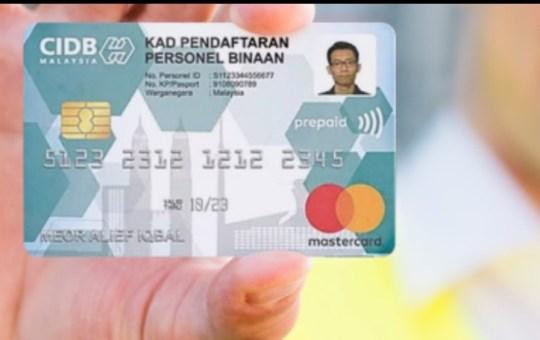 kad hijau cidb pendaftaran personel binaan