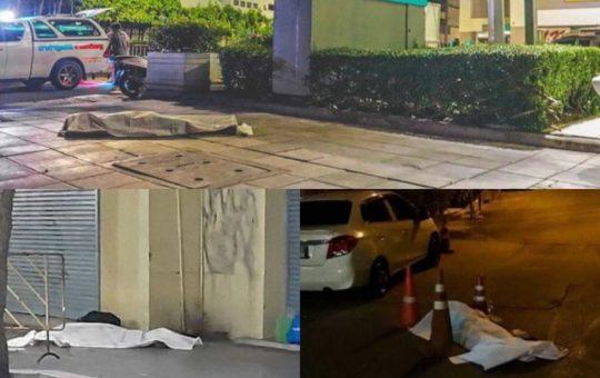manyat covid19 ditepi jalan di thailand