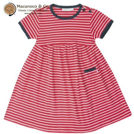 B5078 Essential Summer Dress Strawberry with White Stripes