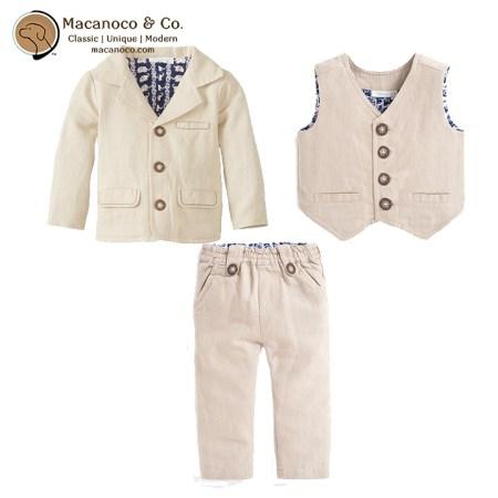 B5337 B5009 B5010 Linen Jacket Waistcoat Trousers Natural