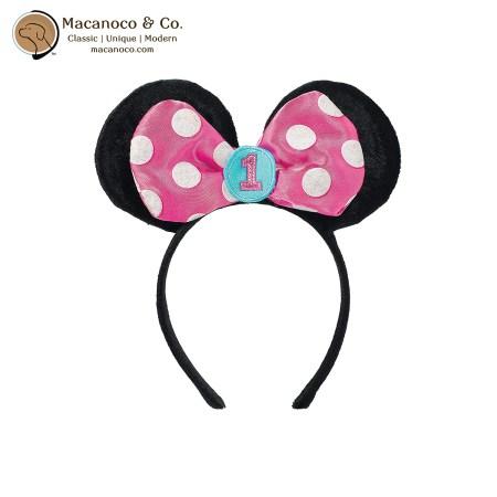 397509 1st Birthday Minnie Mouse Ears Headband 1