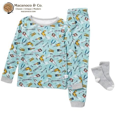 75223 Sleep On It Tools Print Pajama Set 1