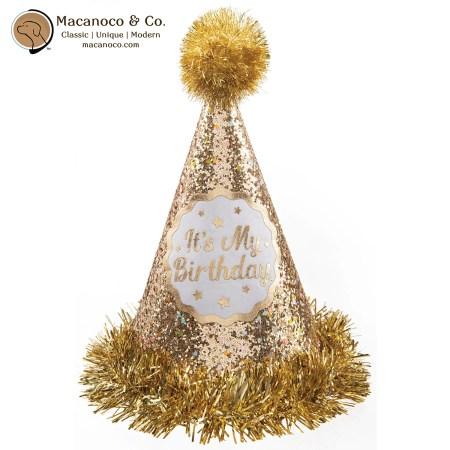 2500034 Gold Birthday Cone Hat 1